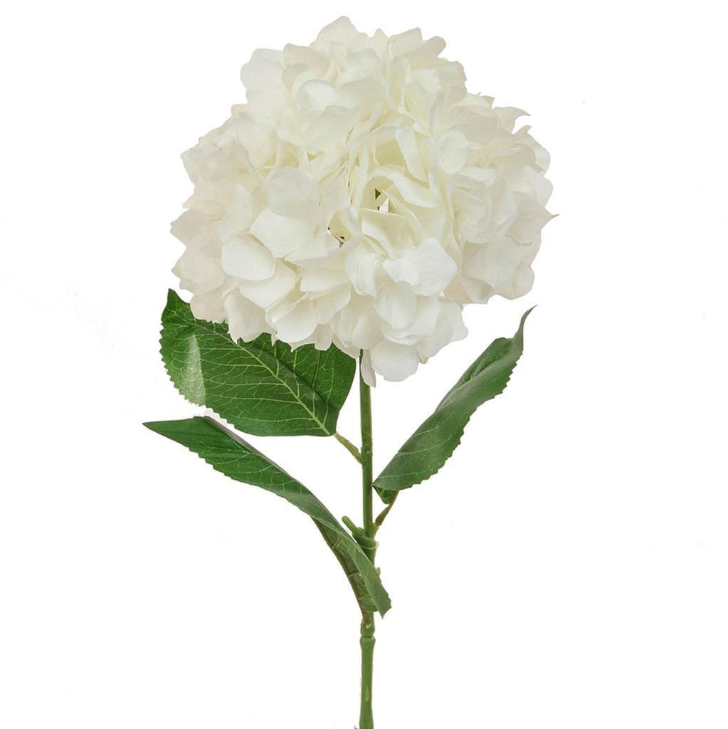 SF Hydrangea sgl White W 73cm