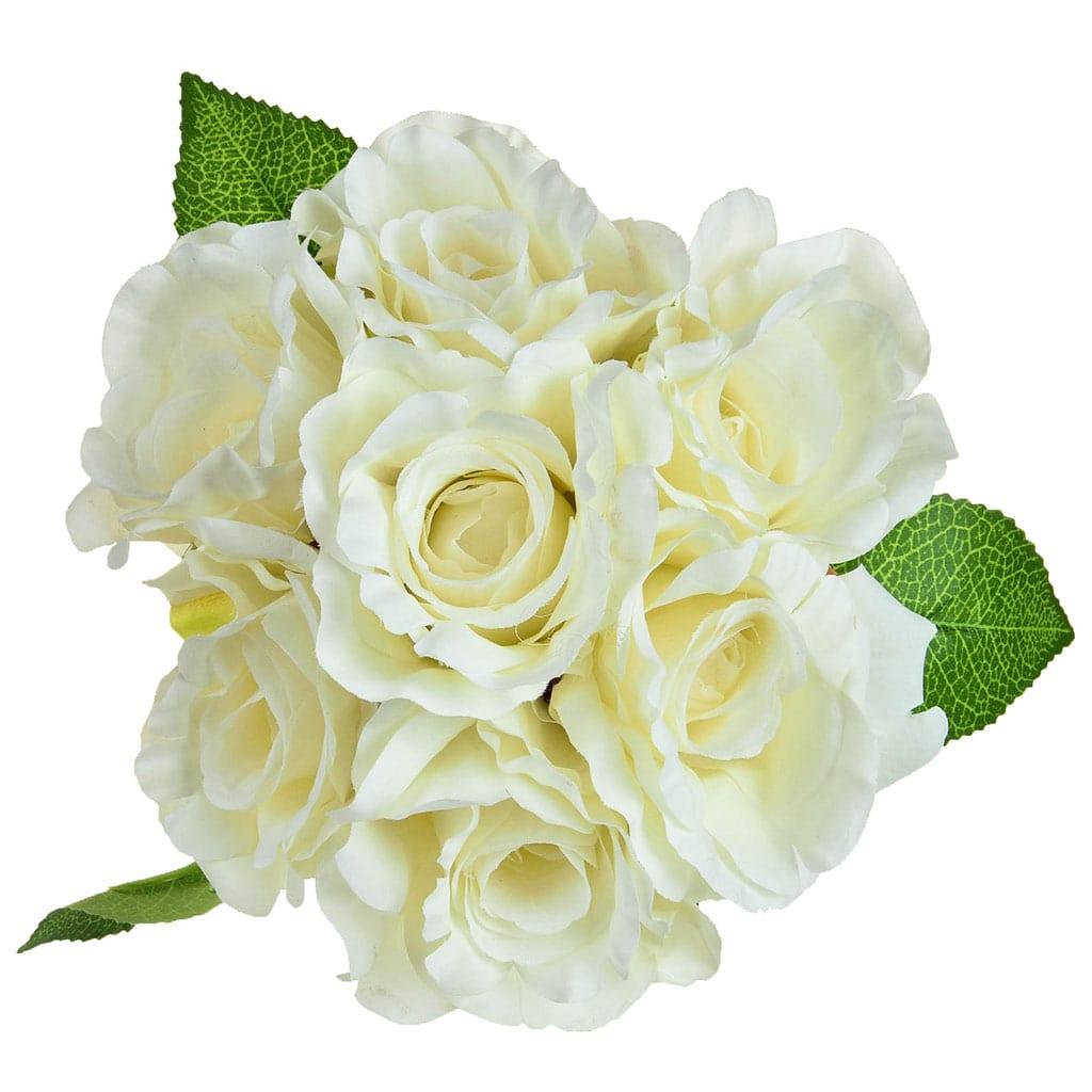 SF Bouquet Rose white W 30cm