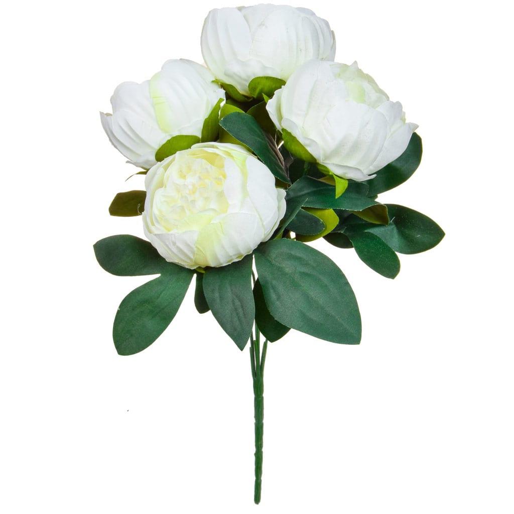 SF Bouquet Peony white W 38cm