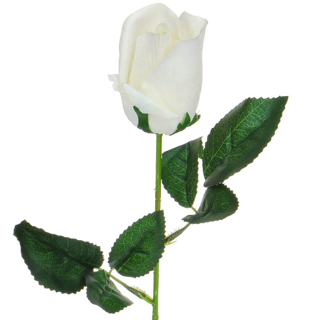 SF Rose white Bud W 46cm