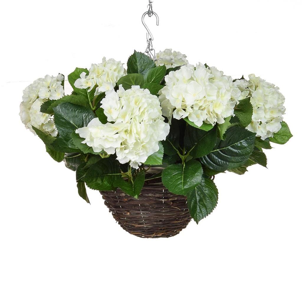 HB Hydrangea Hanging Basket White 30cm