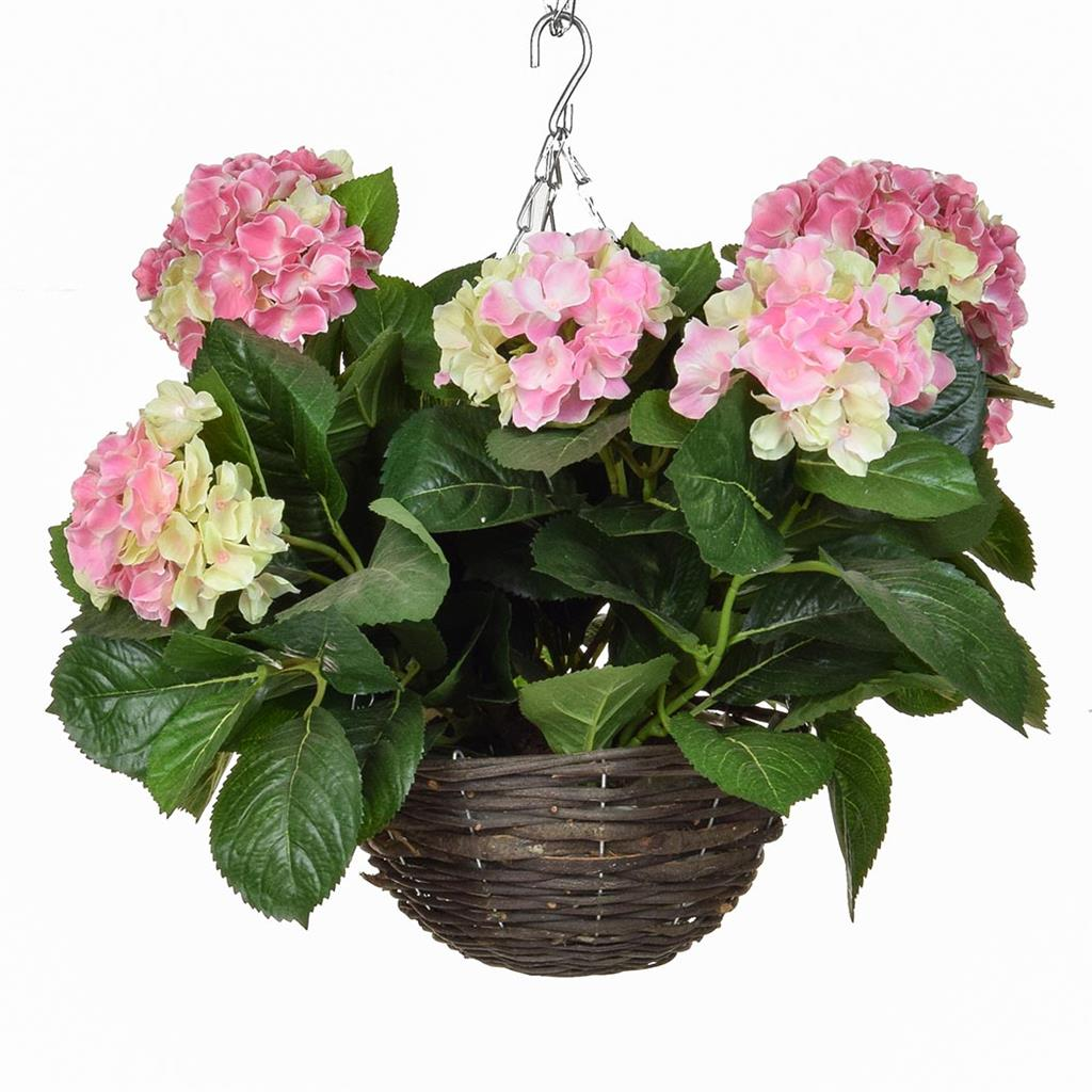HB Hydrangea Hanging Basket Pink 30cm