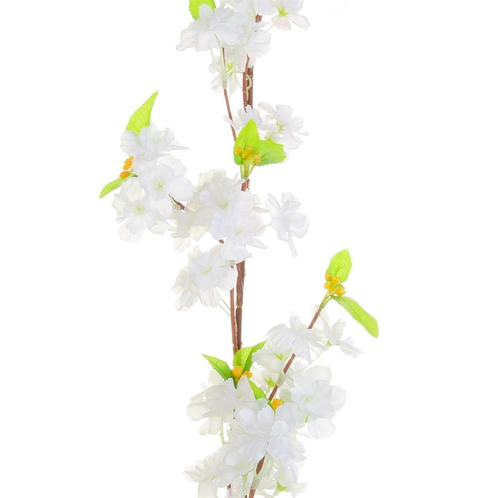 I & T Cherry Blossom Garland White 230cm