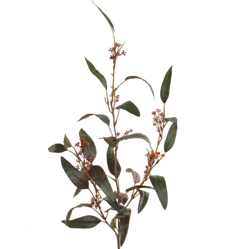 Foliage Eucalyptus Grn/Rd Spray GB 125cm
