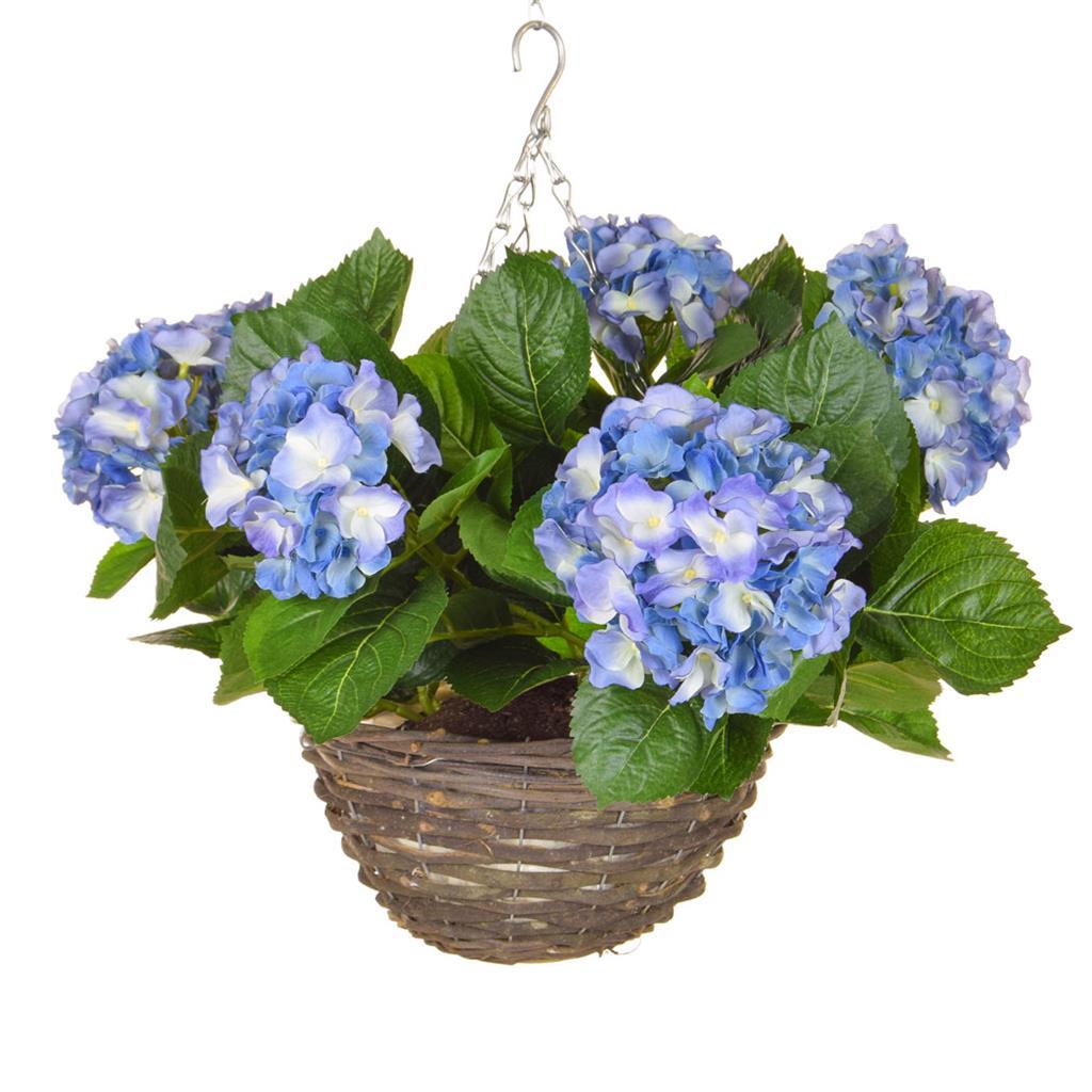 HB Hydrangea Hanging Basket Blue 30cm