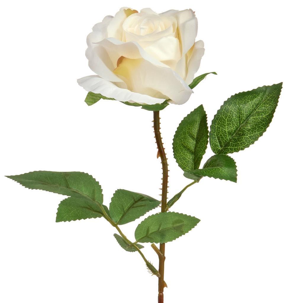 SF Rose Single White W 42cm