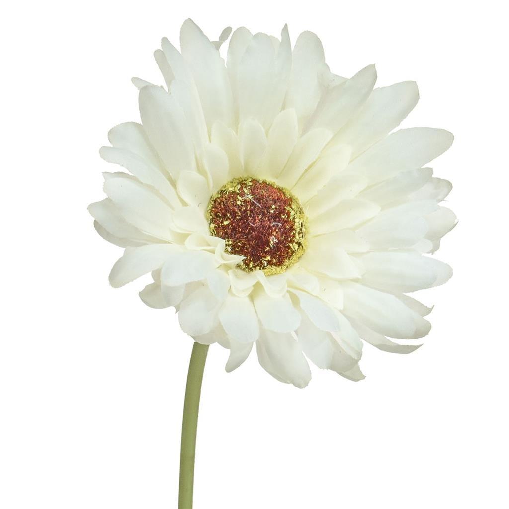 SF Gerbera  White W 50cm