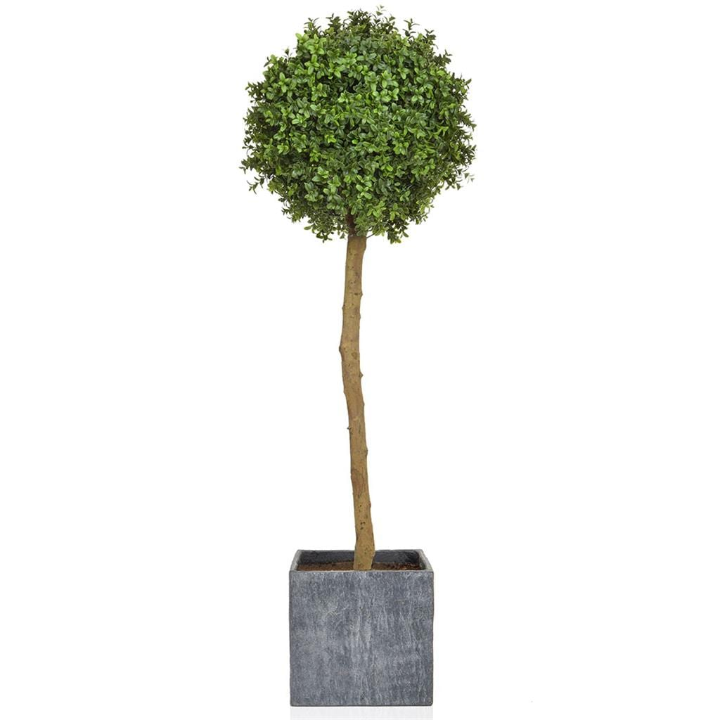 AN-Topiary Tree PR Ball in Slate Pot 125cm