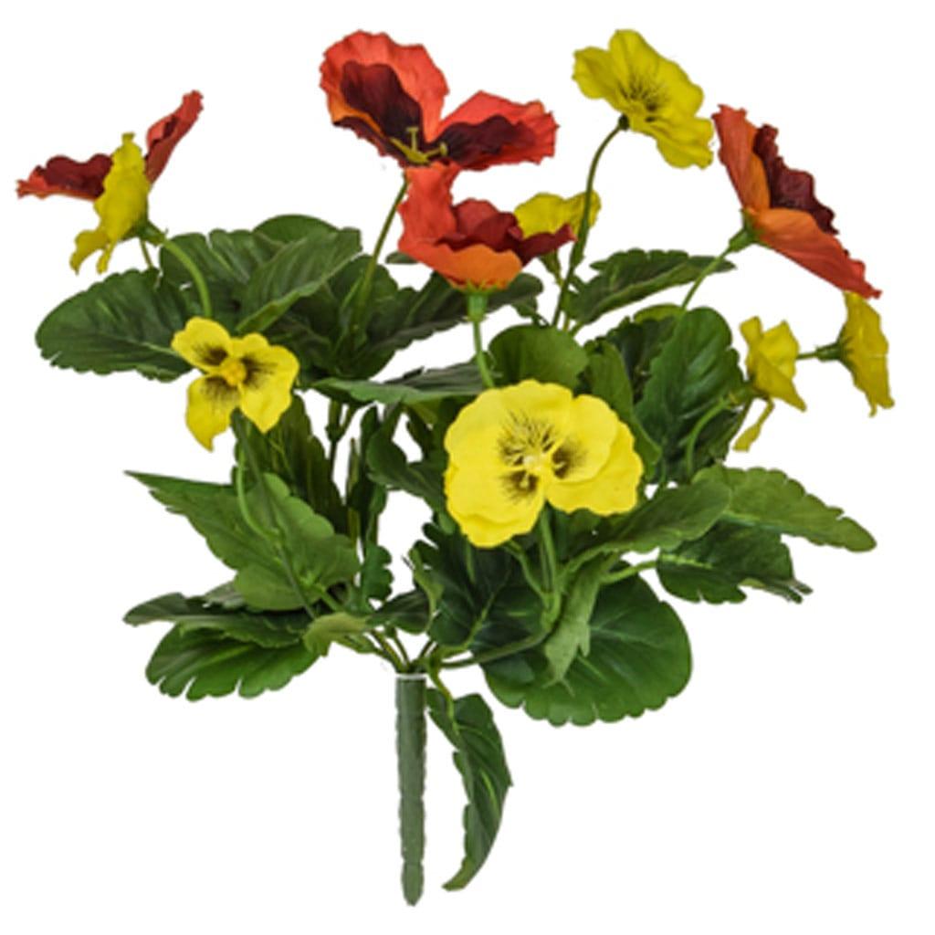 Plants Flowering Pansy Mix Bush O/Y 28cm