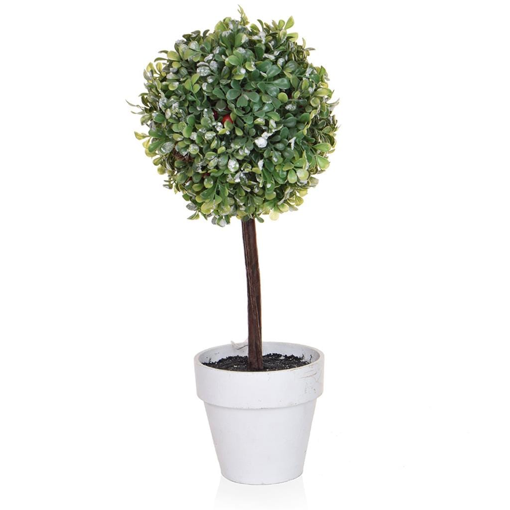 CH-Topiary Ball with Stone Pot 52cm